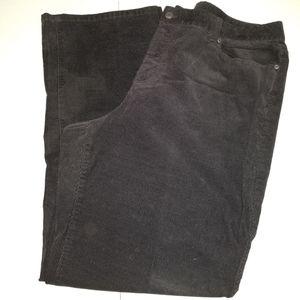 Talbots 20W Black Corduroy Pants